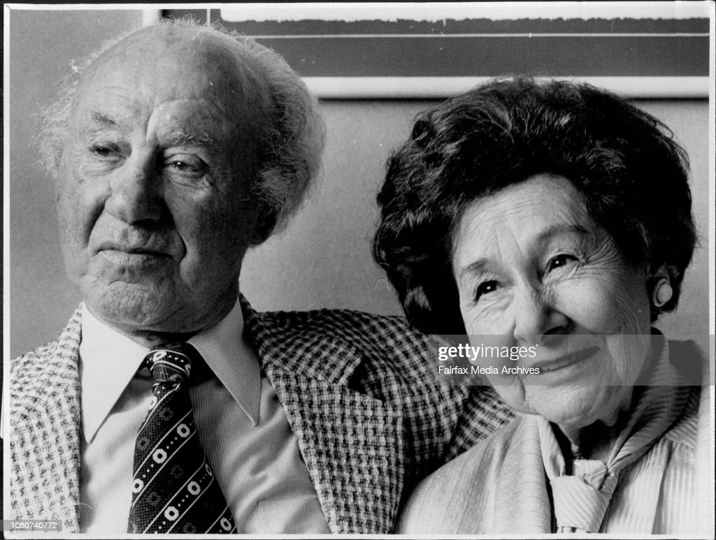 Author Irving Stone and his Wife Jean at the Sebel town House. : News Photo