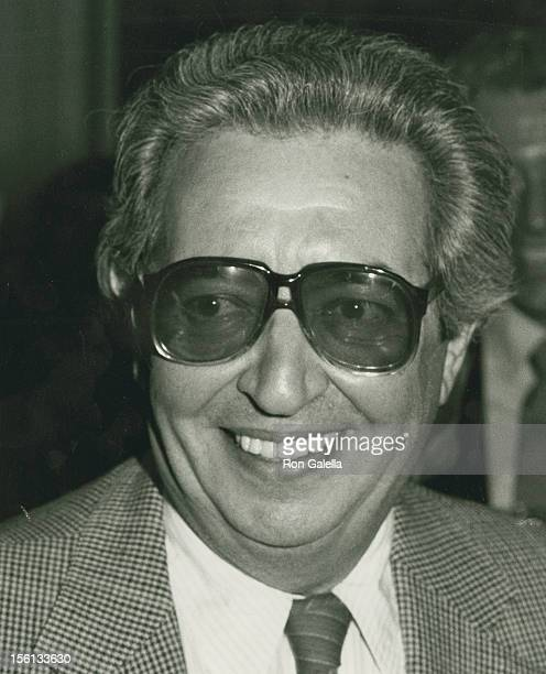 Author Irving Wallace attends the book party for Thomas Thompson 'Celebrity' on April 9 1982 at the Beverly Hills Hotel in Beverly Hills California