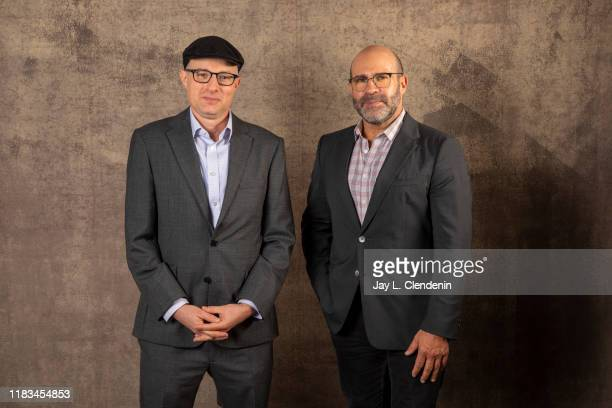 Author Jake Bernstein and writer Scott Z Burns from 'The Laundromat' are photographed for Los Angeles Times on September 9 2019 at the Toronto...
