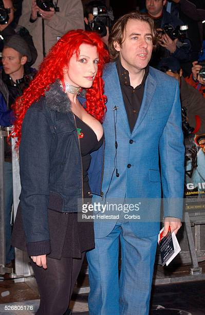 Author Jane Goldman and actor Jonathan Ross attend the premiere of the movie 'Ali G Indahouse' in London