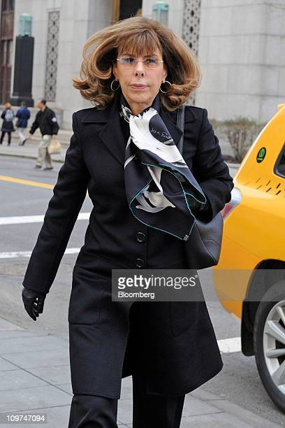 Author Jane Stanton Hitchcock arrives at federal court for the sentencing of Kenneth Starr former money manager in New York US on Wednesday March 2...