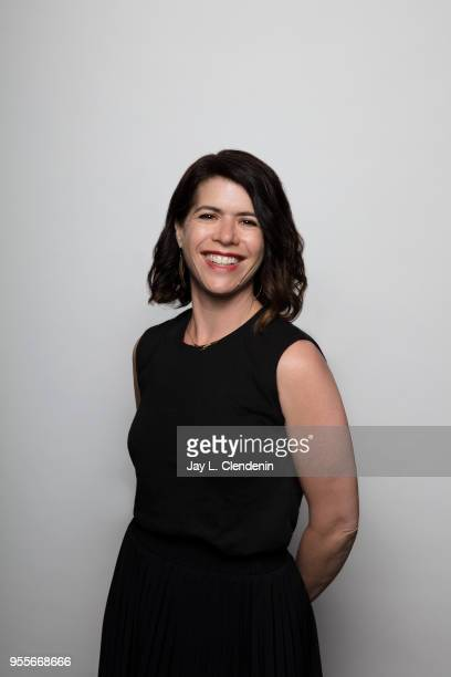 Author Janelle Brown is photographed for Los Angeles Times on April 21 2018 in the LA Times Studio at the Los Angeles Times Festival of Books at the...