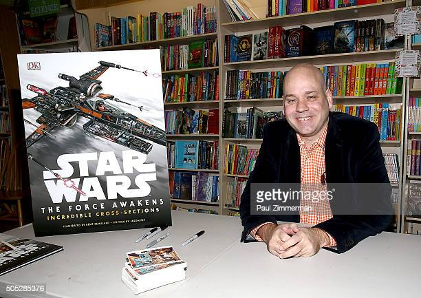 Author Jason Fry attends Star Wars Celebration Talk Book Signing at Bookends Bookstore on January 16 2016 in Ridgewood New Jersey