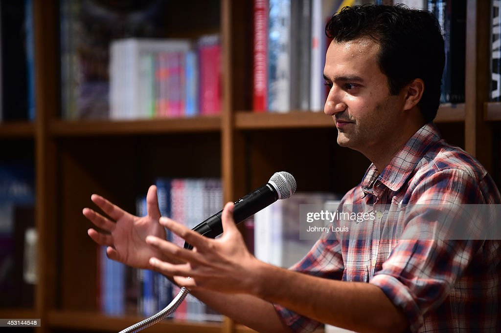 "Author Jaswinder Bolina discussing and signing his book ""Phantom... News  Photo - Getty Images"