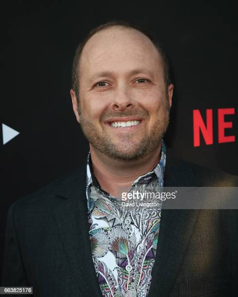 Author Jay Asher attends the premiere of Netflix's 13 Reasons Why at Paramount Pictures on March 30 2017 in Los Angeles California