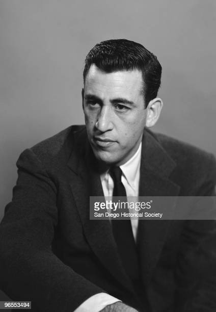 Author JD Salinger poses for a portrait as he reads from his classic American novel The Catcher in the Rye on November 20 1952 in the Brooklyn...