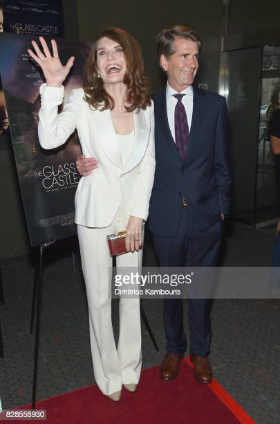Author Jeannette Walls and journalist John Taylor attends the The Glass Castle New York Screening at SVA Theatre on August 9 2017 in New York City