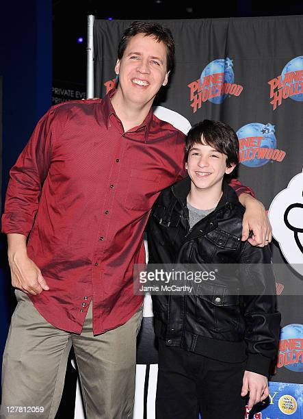 Author Jeff Kinney and actor Zack Gordon visit Planet Hollywood Times Square on March 16 2011 in New York City