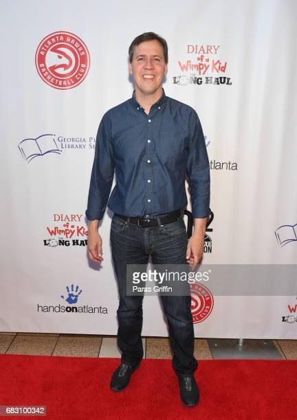 Author Jeff Kinney attends Diary Of A Wimpy Kid The Long Haul Atlanta screening hosted by Dwight Howard at Regal Atlantic Station on May 14 2017 in...