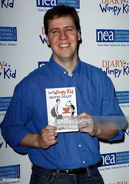 """Author Jeff Kinney attends the """"Diary Of A Wimpy Kid"""" premiere at the Ziegfeld Theatre on March 4, 2010 in New York City."""