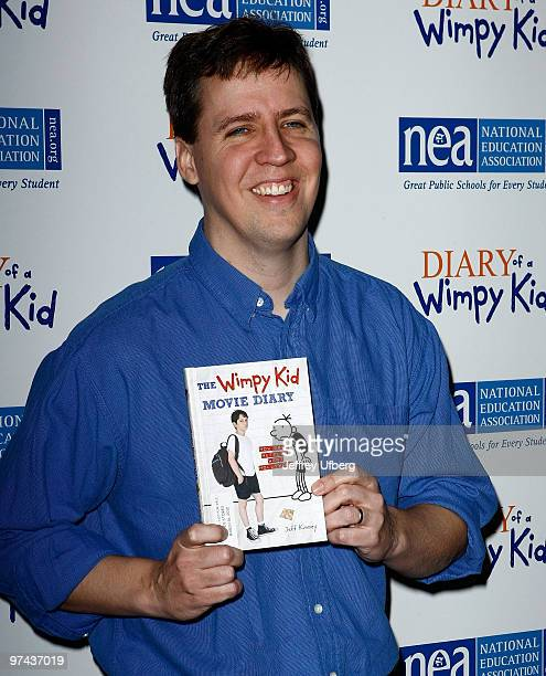 Author Jeff Kinney attends the Diary Of A Wimpy Kid premiere at the Ziegfeld Theatre on March 4 2010 in New York City