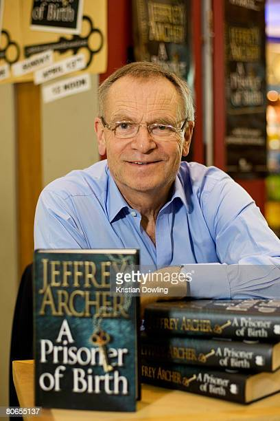 Author Jeffrey Archer poses during a book signing at the Qantas Terminal Newslink Store on April 13, 2008 in Melbourne, Australia.