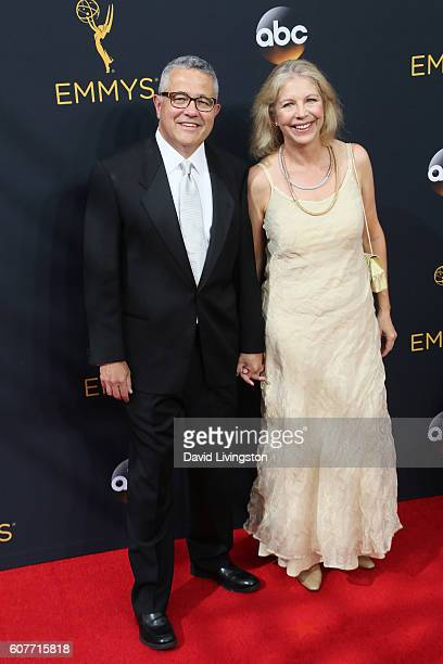 Author Jeffrey Tooben and Amy Bennett McIntosh arrive at the 68th Annual Primetime Emmy Awards at the Microsoft Theater on September 18 2016 in Los...