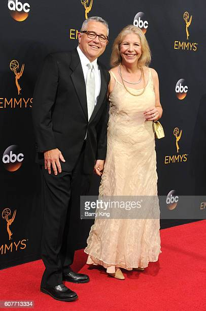 Author Jeffrey Tooben and Amy Bennett McIntosh attend the 68th Annual Primetime Emmy Awards at Microsoft Theater on September 18 2016 in Los Angeles...