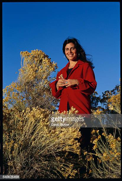 Author Jenny Lauren niece of fashion designer Ralph Lauren outside her Santa Fe home Lauren wrote a book about her experiences with anorexia