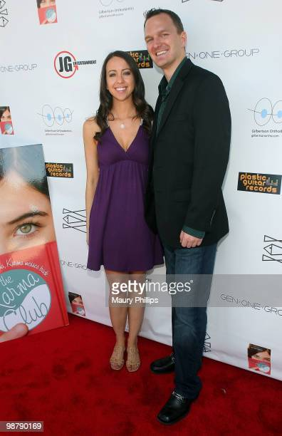 Author Jessica Brody and Charlie Fink arrive at ''The Karma Club'' Book Launch and Fundraising Event on May 1 2010 in Santa Clarita California