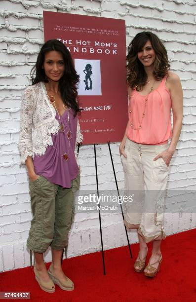 Author Jessica Denay and cocreator Joy TilkBergin at the The Hot Mom's Handbook launch party held at Nanas Garden on April 29 2006 in Los Angeles...