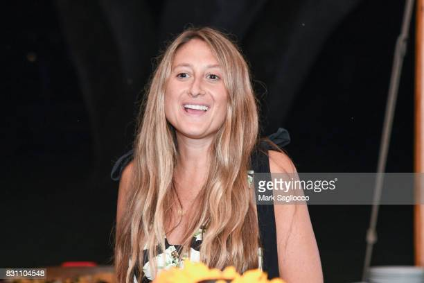 Author Jessica Siskin attends Hamptons Magazine's Private Dinner Celebrating East Hampton Library Authors Nighton August 12 2017 in East Hampton New...