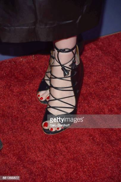 Author Jill Kargman shoe detail attends the 31st FN Achievement Awards at IAC Headquarters on November 28 2017 in New York City