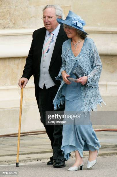 Author Jilly Cooper and husband Leo Copper attend the Service of Prayer and Dedication following the marriage of TRH Prince Charles and The Duchess...