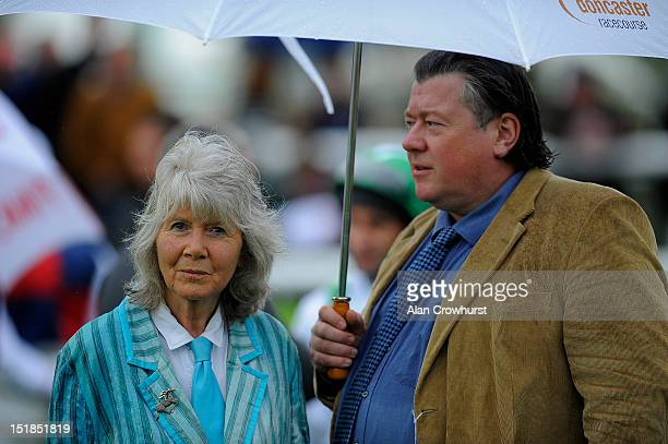 Author Jilly Cooper at Doncaster racecourse on September 12 2012 in Doncaster England
