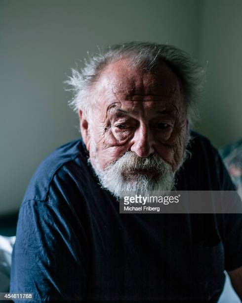 Author Jim Harrison is photographed for Le Monde on May 12 2013 in Livingston Montana
