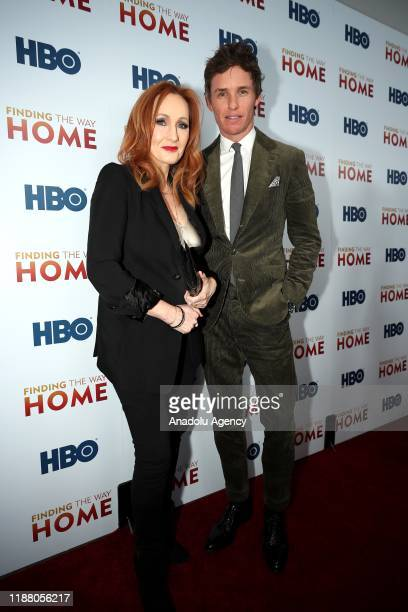 Author J.K Rowling and actor Eddie Redmayne attend HBO's 'Finding The Way Home' World Premiere at Hudson Yards in New York, United States on December...