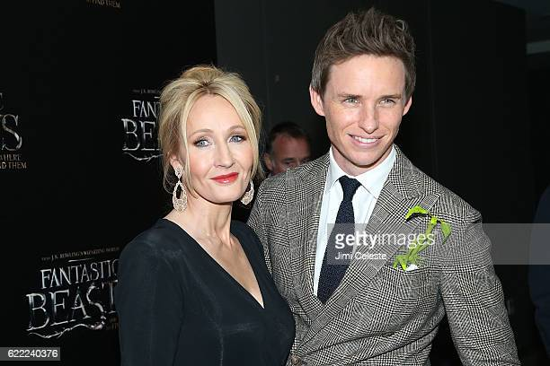 "Author J.K. Rowling and Actor Eddie Redmayne attend the ""Fantastic Beasts And Where To Find Them"" World Premiere at Alice Tully Hall on November 10,..."