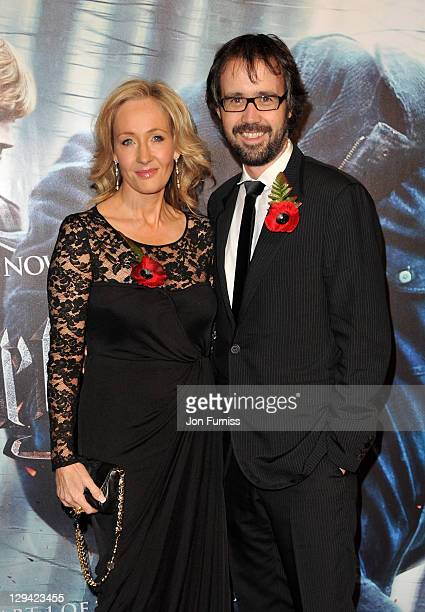 Author JK Rowling and husband Dr Neil Murray attend the world premiere of Harry Potter and The Deathly Hallows at Odeon Leicester Square on November...