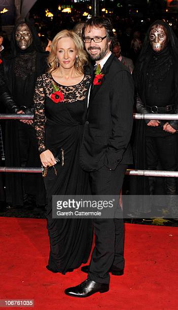 Author JK Rowling and husband Neil Murray attend the Harry Potter And The Deathly Hallows Part 1 World film premiere at Odeon Leicester Square on...