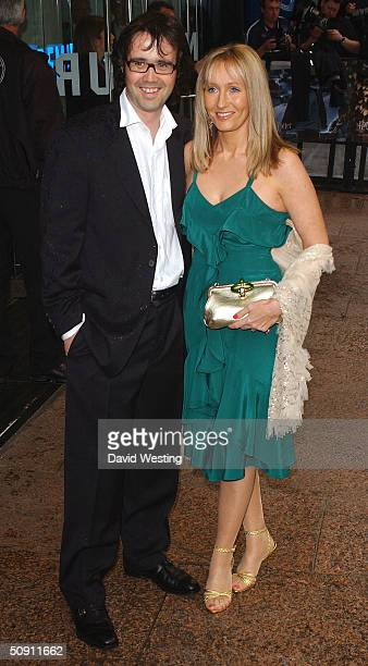 Author JK Rowling and husband Neil Murray attend the UK Premiere of Harry Potter And The Prisoner Of Azkaban at the Odeon Leicester Square on May 30...