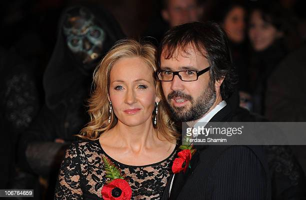 Author JK Rowling and husband Neil Murray attend the world premiere of Harry Potter and The Deathly Hallows at Odeon Leicester Square on November 11...