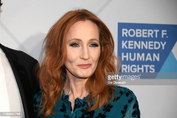 Author Jk Rowling arrives at the RFK Ripple of Hope Awards at New York Hilton Midtown on December 12 2019 in New York City