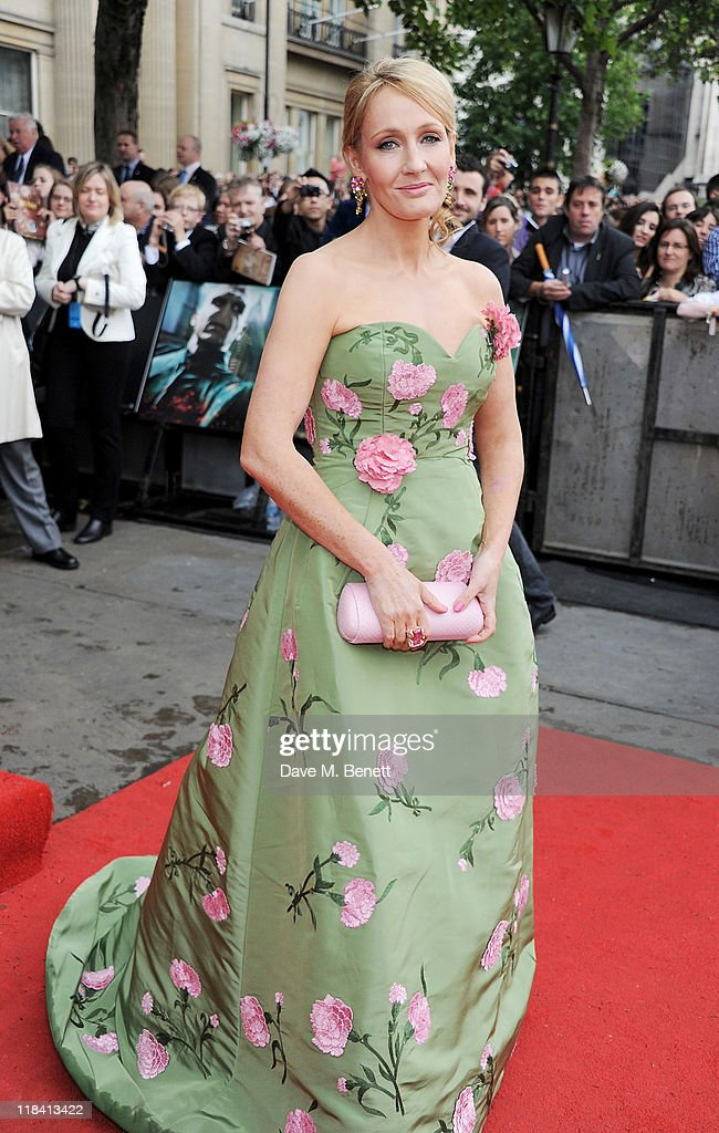 Author J.K. Rowling arrives at the World Premiere of 'Harry Potter And The Deathly Hallows Part 2' in Trafalgar Square on July 7, 2011 in London, England.