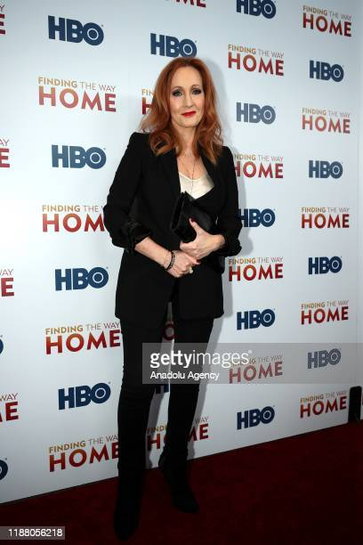 Author J.K Rowling attends HBO's 'Finding The Way Home' World Premiere at Hudson Yards in New York, United States on December 11, 2019.