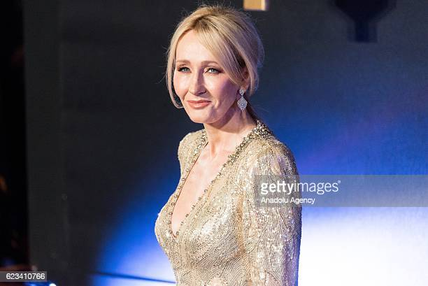 Author J.K Rowling attends the European premiere of 'Fantastic Beasts And Where To Find Them' at Odeon Leicester Square on November 15, 2016 in...