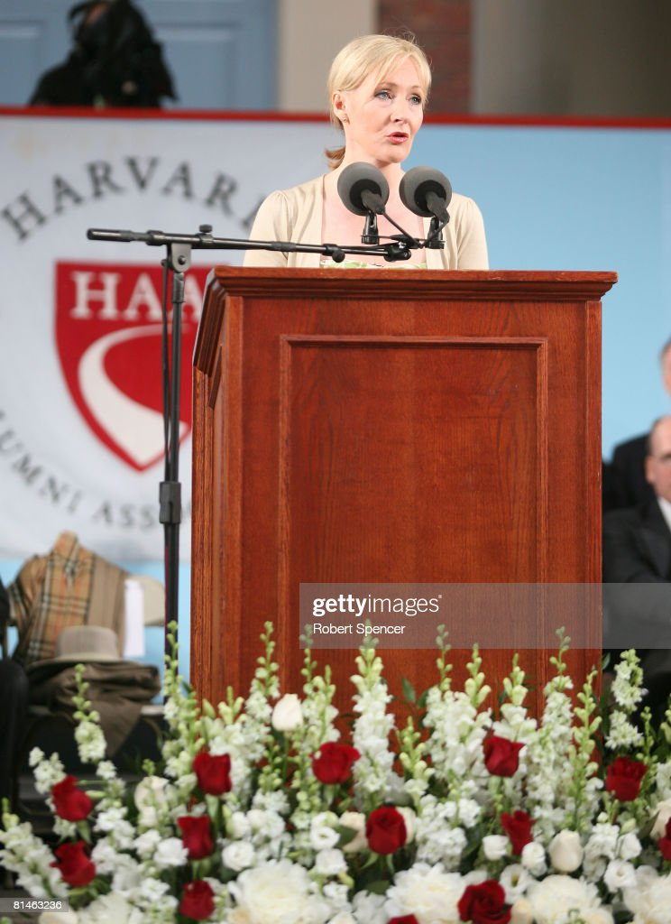 JK Rowling Address Headlines Harvard Univ. Commencement : News Photo