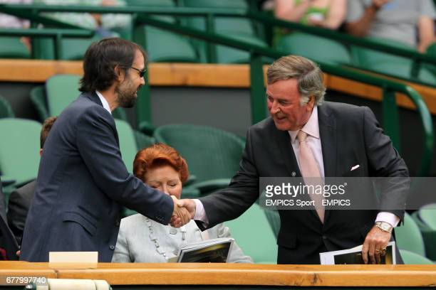 Author JK Rowling's husband Neil Murray shakes hands with Terry Wogan