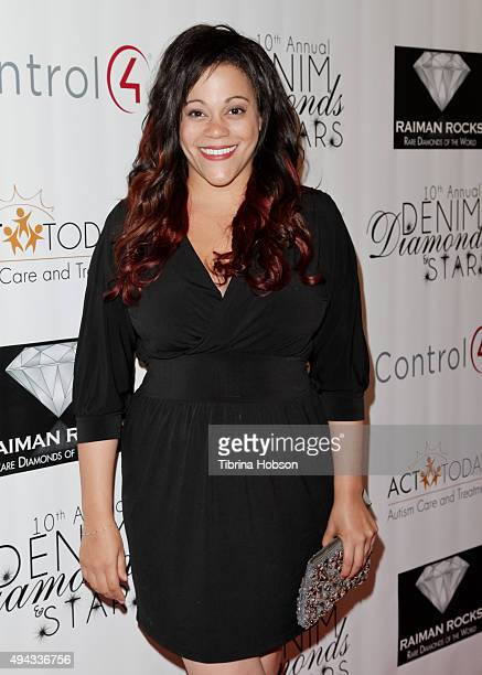 Author Jodi Baker attends ACT's 10th annual Denim Diamonds Gala at Four Seasons Hotel on October 25 2015 in Westlake Village California