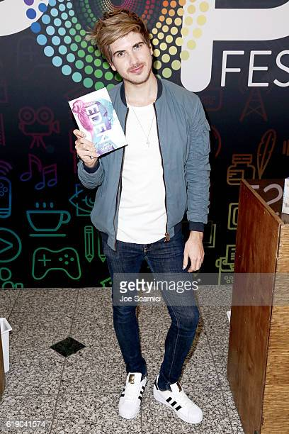 Author Joey Graceffa signs books at Entertainment Weekly's PopFest at The Reef on October 29 2016 in Los Angeles California