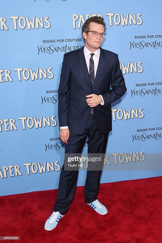 Author John Green attends the New York City premiere of 'Paper Towns' at AMC Loews Lincoln Square on July 21, 2015 in New York City.