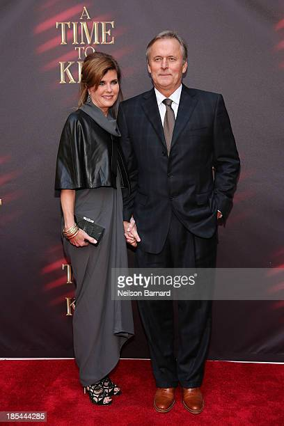 """Author John Grisham and wife Renee Grisham attend the Broadway opening night of """"A Time To Kill"""" at The Golden Theatre on October 20, 2013 in New..."""