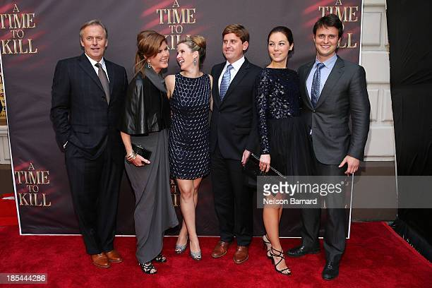 """Author John Grisham, wife Renee Grisham and family attend the Broadway opening night of """"A Time To Kill"""" at The Golden Theatre on October 20, 2013 in..."""