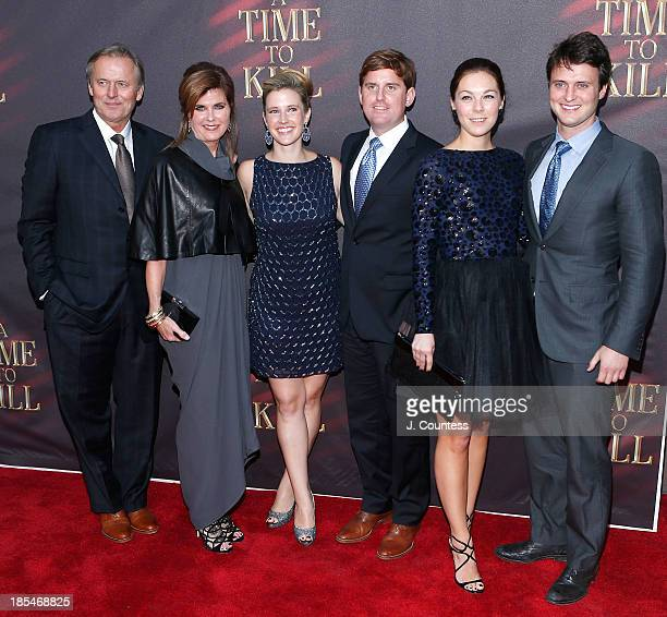 """Author John Grisham, wife Renee Joes and guest attend the Broadway opening night of """"A Time To Kill"""" at The Golden Theatre on October 20, 2013 in New..."""