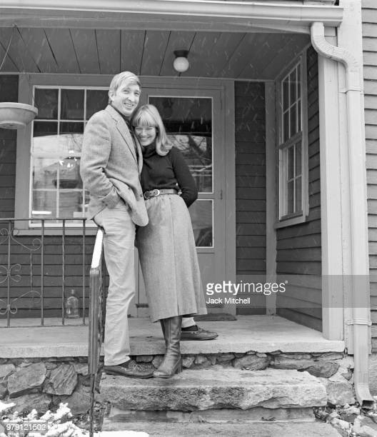 Author John Updike photographed with his wife Martha at his home in Massachusetts in November 1978 the year his bestseller 'The Coup' was published