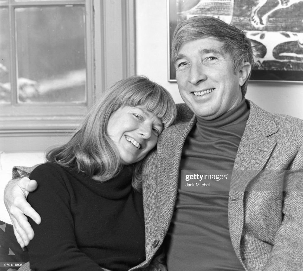 John Updike And His Wife Martha : News Photo