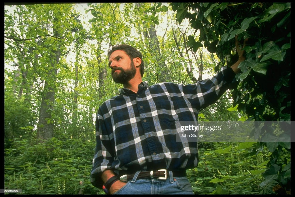 Author Jon Krakauer in a park; he survived a mount : News Photo