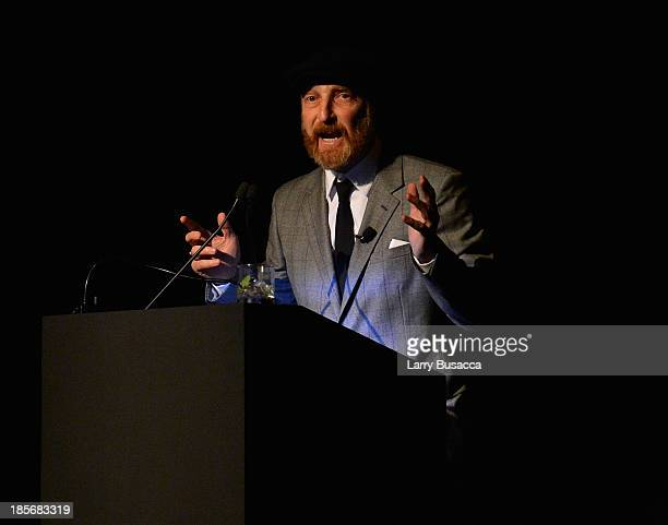 Author Jonathan Ames speaks during PRADA Journal A Literary Contest In Collaboration With Feltrinelli Editore at the Prada Epicenter Store on October...