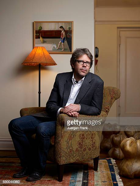 Jonathan Franzen at home in New York City