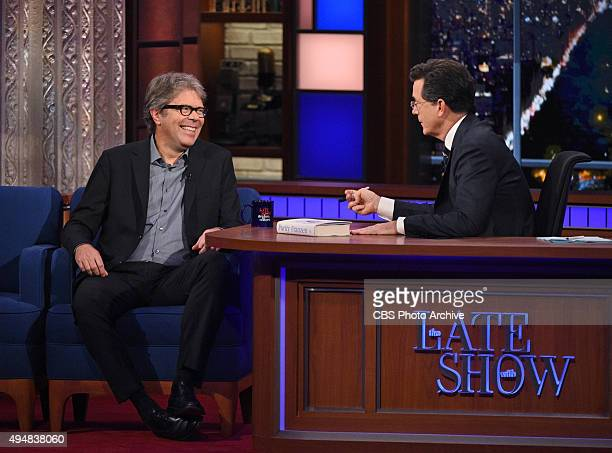 Author Jonathan Franzen on The Late Show with Stephen Colbert Wednesday Oct 28 2015 on the CBS Television Network